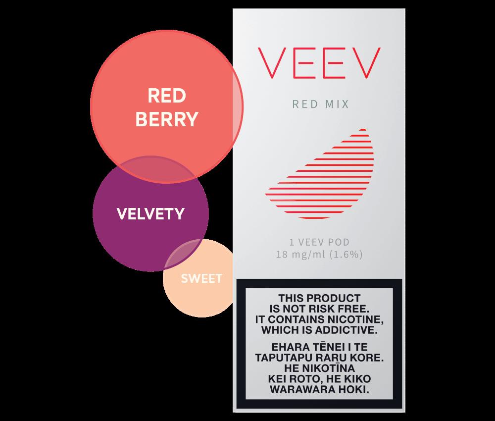 Red Mix VEEV vape pods