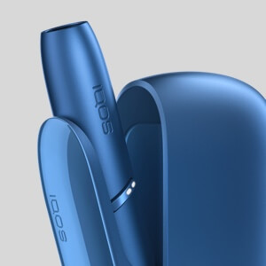 IQOS 3 DUO blue device open